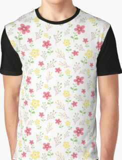 Pink and yellow floral pattern Graphic T-Shirt