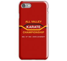 All Valley Karate Championship (aged look) iPhone Case/Skin