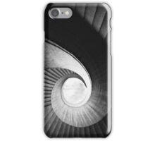 Spirals in black and white iPhone Case/Skin