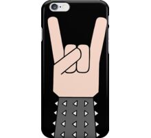 Heavy metal music horn iPhone Case/Skin
