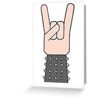Heavy metal music horn Greeting Card