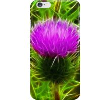 Fractal Thistle iPhone Case/Skin