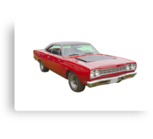 Red 1968 Plymouth Roadrunner Muscle Car Canvas Print