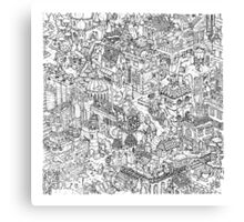 Dinocity Canvas Print