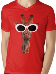 Funny grunge giraffe Mens V-Neck T-Shirt