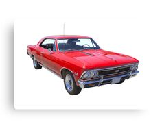 Red 1966 Chevy Chevelle SS 396 Canvas Print