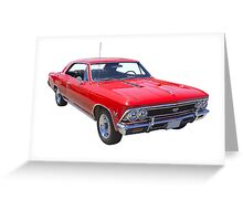 Red 1966 Chevy Chevelle SS 396 Greeting Card