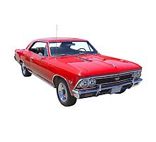 Red 1966 Chevy Chevelle SS 396 Photographic Print