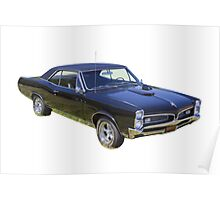 Black 1967 Pontiac GTO Muscle Car Poster