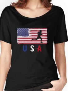 USA Football 2016 competition soccer funny t-shirt Women's Relaxed Fit T-Shirt