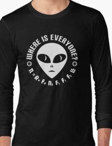 Geek Drake Equation - Fermi Paradox - Where are the Aliens Long Sleeve T-Shirt