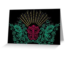 Exotic flowers Greeting Card