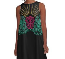 Exotic flowers A-Line Dress