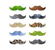 Pattern Moustache Mustache by Fuchs-und-Spatz