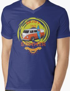 Surf And Enjoy The Summer Mens V-Neck T-Shirt