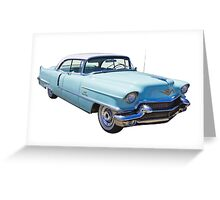 1956 Sedan Deville Cadillac Luxury Car Greeting Card