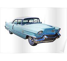 1956 Sedan Deville Cadillac Luxury Car Poster
