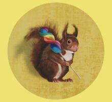 Squirrel with lollipop One Piece - Short Sleeve