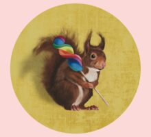 Squirrel with lollipop One Piece - Long Sleeve