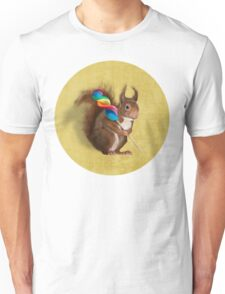 Squirrel with lollipop Unisex T-Shirt