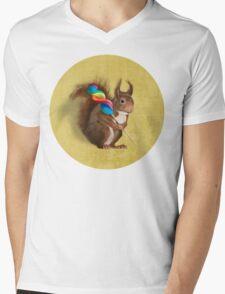 Squirrel with lollipop Mens V-Neck T-Shirt