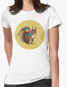 Squirrel with lollipop Womens Fitted T-Shirt