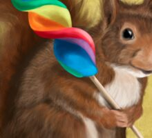 Squirrel with lollipop Sticker