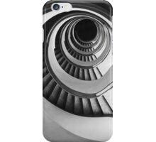 Concrete spirals in black and white iPhone Case/Skin