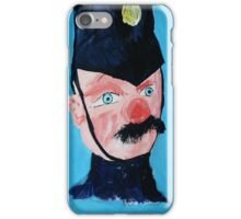 Punch And Judy Policeman Victorian Seaside Contemporary Acrylic Fine Art Painting iPhone Case/Skin