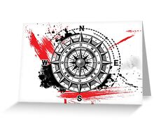 Modern Compass Greeting Card