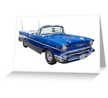 1957 Chevrolet Bel Air 2-door Convertible Greeting Card