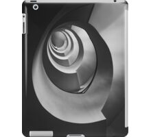Modern staircase in black and white iPad Case/Skin