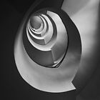 Modern staircase in black and white by JBlaminsky