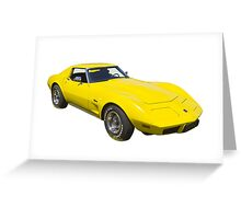 1975 Corvette Stingray Muscle Car Greeting Card