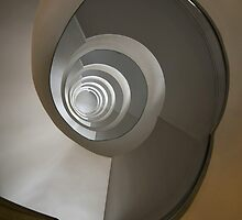 Concrete staircase with spiral stairs by JBlaminsky