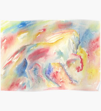 Abstract Horse II Poster