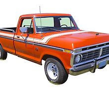1975 Ford F100 Explorer Pickup Truck by KWJphotoart