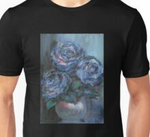 Abstract Roses on Silk Unisex T-Shirt