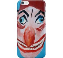 Punch And Judy Punch Victorian Seaside Contemporary Acrylic Fine Art Painting  iPhone Case/Skin