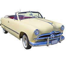 1949 Ford Custom Deluxe Convertible Antique Car by KWJphotoart