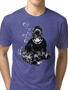 Deep sea diving chimp Tri-blend T-Shirt