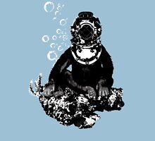Deep sea diving chimp Unisex T-Shirt