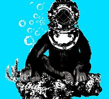 Deep sea diving chimp by monsterplanet