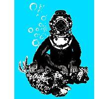 Deep sea diving chimp Photographic Print