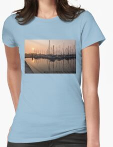 From Orange to Pink - a Morning Smooth as Silk Womens Fitted T-Shirt