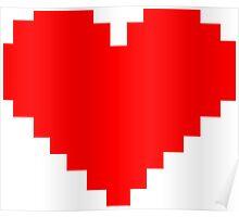 8 Bit Heart Poster