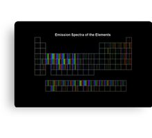 Periodic Table of Elements Spectra Canvas Print