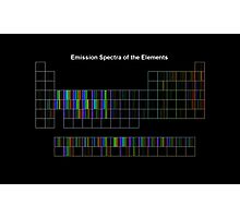 Periodic Table of Elements Spectra Photographic Print