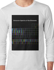 Periodic Table of Elements Spectra Long Sleeve T-Shirt