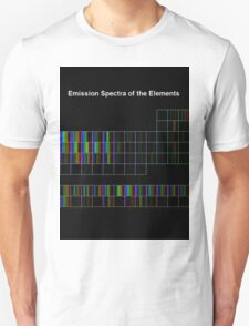 Periodic Table of Elements Spectra T-Shirt
